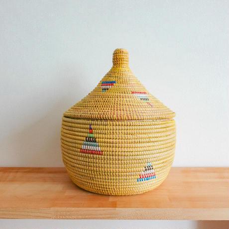 セネガル製カゴ (黄色)