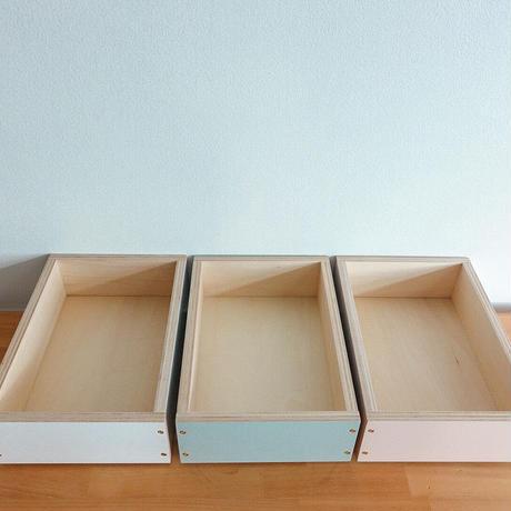 スタッキング木製ボックス(低)