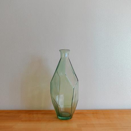 フラワーベース(ガラス/ グリーン)