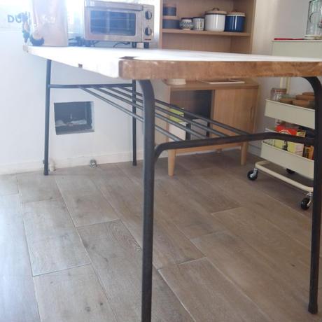 テーブル(古材天板×アイアン脚)