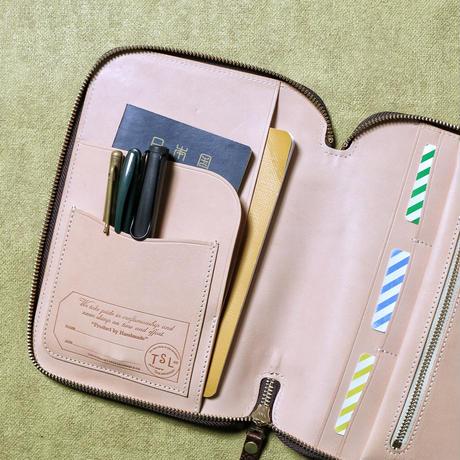 【THE SUPREIOR LABOR】leather zip organizer