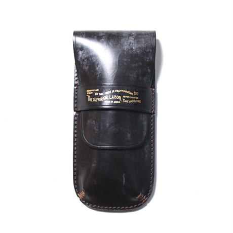 【THE SUPERIOR LABOR】bridle leather flap pen case
