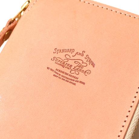 【THE SUPERIOR LABOR】saddle leather zip pen case