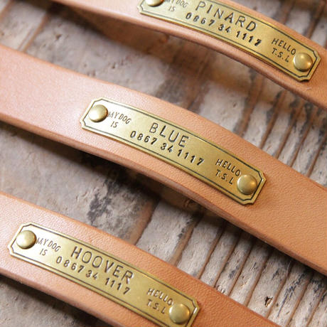 【THE SUPERIOR LABOR】TSL dog collar M (セミオーダー商品)