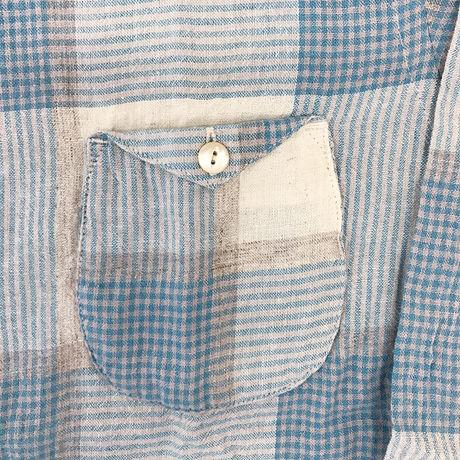 【HACHIGAHANA】small collar shirts (スモールカラーシャツ)