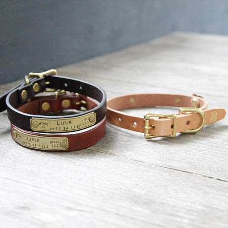 【THE SUPERIOR LABOR】TSL dog collar S (セミオーダー商品)