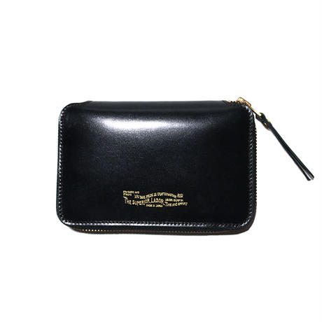 【THE SUPERIOR LABOR 】cordovan zip middle wallet  -BLACK-