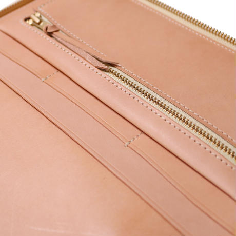 【THE SUPERIOR LABOR】saddle leather zip organizer