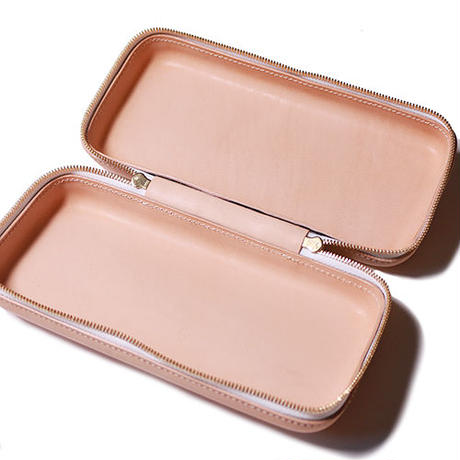 【THE SUPERIOR LABOR 】zip leather box L