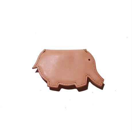 【THE SUPERIOR LABOR 】harness leather elephant coin case