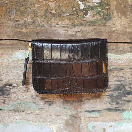 【THE SUPERIOR LABOR】crocodile zip small wallet