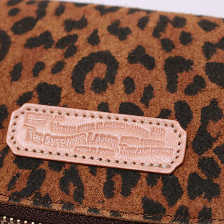 【THE SUPERIOR LABOR 】leopard print  zip small wallet