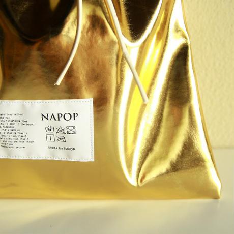 NAPOP BAGS 金の巾着