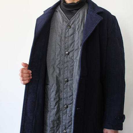 QUILTING WORK COAT_NAVY