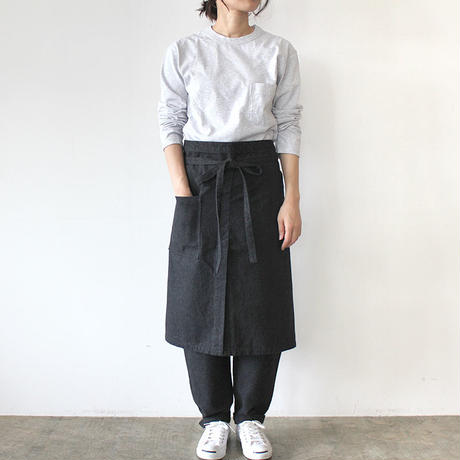 LONG SALON APRON_CHARCOAL