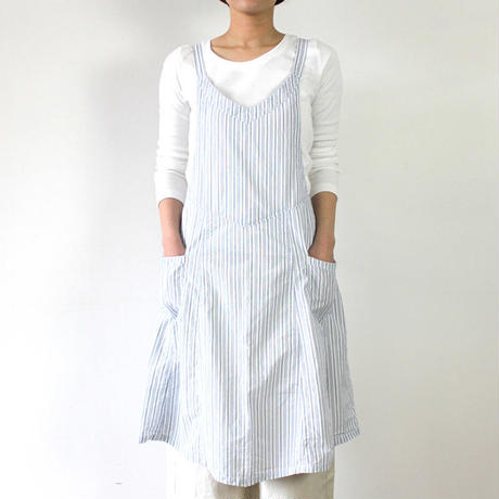 【直営店限定】EURO KITCHEN APRON STRIPE_WHITE