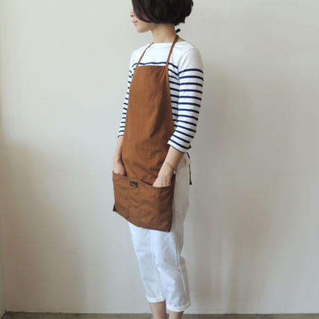 04 VINTAGE DUCK HALF APRON_BROWN