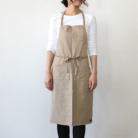 HEAVY JERSEY 4POCKET APRON_BEIGE