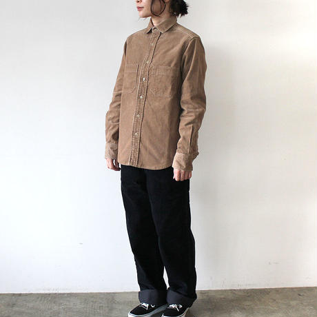 CORDUROY WORK SHIRT_BEIGE