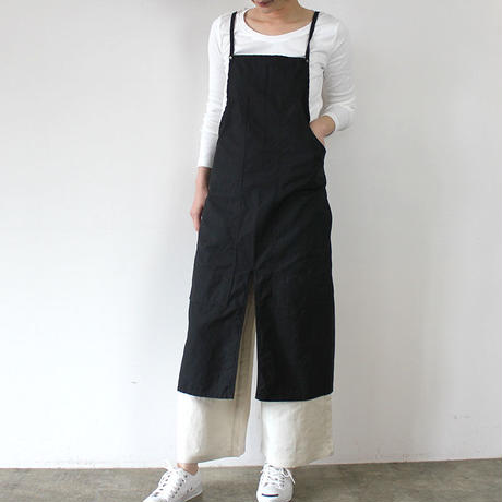 SPLIT BAKER APRON_BLACK