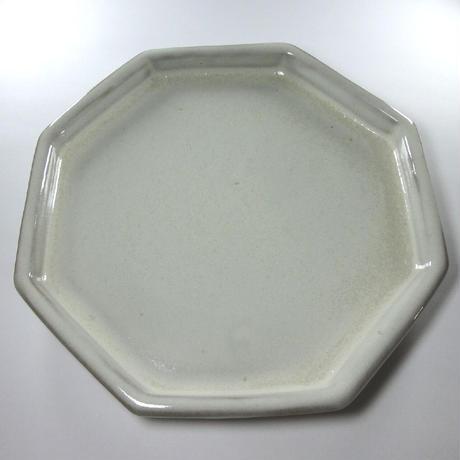 八角皿(中・白)
