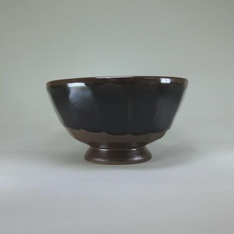 カフェオレボウル(黒・青流し)