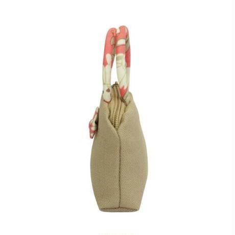 ナラヤ バッグ NaRaYa タイ かわいい手のひらサイズ ミニバッグ 化粧ポーチ・キャンバス(モカ・ハッピーラビット) NCNC-255A 送料無料