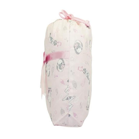 ナラヤ タイ NaRaYa 巾着袋 化粧ポーチ ランジェリーポーチ M ・ラブリーキャット  NB-258/2 送料無料