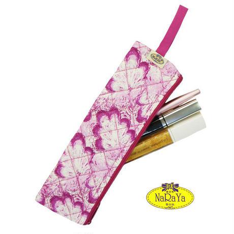 ナラヤ NaRaYa 化粧ポーチ 細型スリム メイクブラシ 化粧筆ケース M・フローラル  NB-166A  送料無料