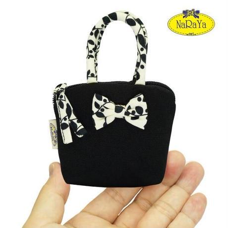 ナラヤ バッグ NaRaYa タイ かわいい手のひらサイズ ミニバッグ 化粧ポーチ・キャンバス(ブラック・バードガーデン) NCNC-255A 送料無料
