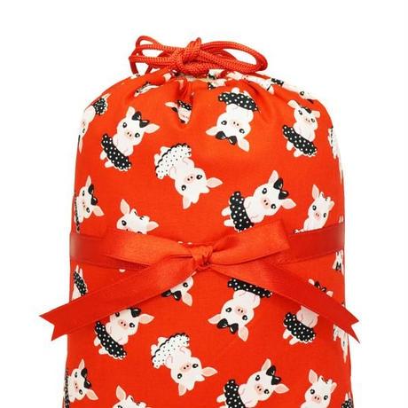 ナラヤ タイ NaRaYa 巾着袋 化粧ポーチ ランジェリーポーチ M ・ダンシングピッグ   NB-258/2 送料無料