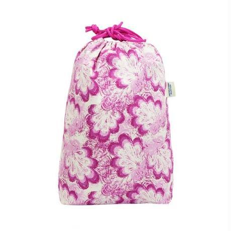 ナラヤ タイ NaRaYa 巾着袋 化粧ポーチ ランジェリーポーチ L ・フローラル   NB-258/M 送料無料