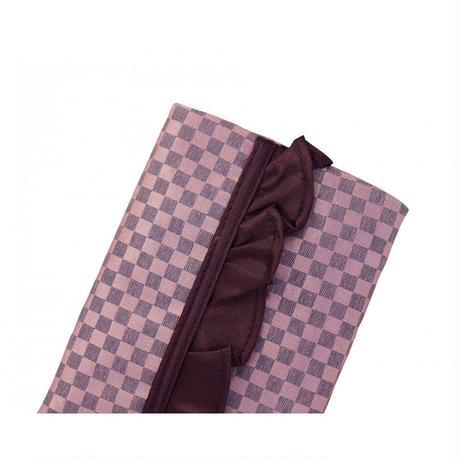 ナラヤ バッグ NaRaYa タイ かわいい ポケットティッシュケース Sフリルタイプ ・ミニチェック(パープルピンク) NBCS-01 送料無料