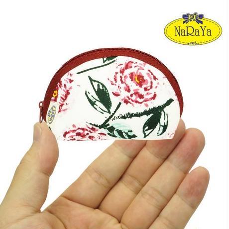 ナラヤ NaRaYa タイ かわいい手のひらサイズ シェル型ポーチ 化粧ポーチ ・ピオニー NB-187 送料無料