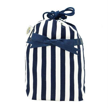 NaRaYa(ナラヤ) 巾着袋ポーチ(ランジェリーポーチ トラベルポーチ)・ストライプ (NB-258/S)