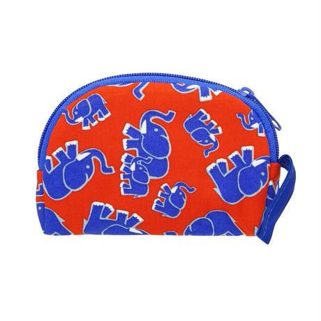 ナラヤ NaRaYa タイ かわいい手のひらサイズ マチ無しポーチ 化粧ポーチ ・レッドエレファント NB-384 送料無料