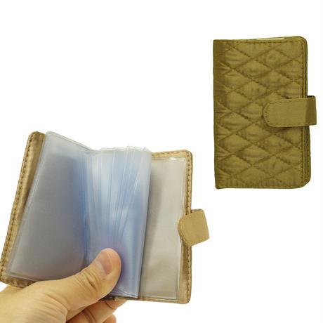 NaRaYa(ナラヤ) 12枚クリアーファイル付カードケース・キルティングサテン(ブロンズ) NBS-311