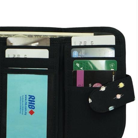三つ折り財布 レディース 財布 ナラヤ NaRaYa ファスナー小銭入れ付・ペイントドット  NB-268B  送料無料