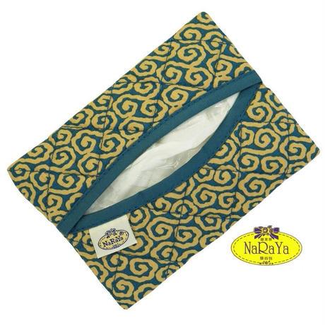 ナラヤ バッグ NaRaYa かわいい ポケットティッシュケース スタンダードタイプ・ジャパネスク(グリーン)NB-01B 送料無料