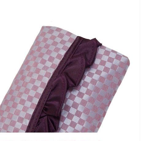 ナラヤ バッグ NaRaYa タイ かわいい ポケットティッシュケース Sフリルタイプ ・ミニチェック(ライトパープル) NBCS-01 送料無料