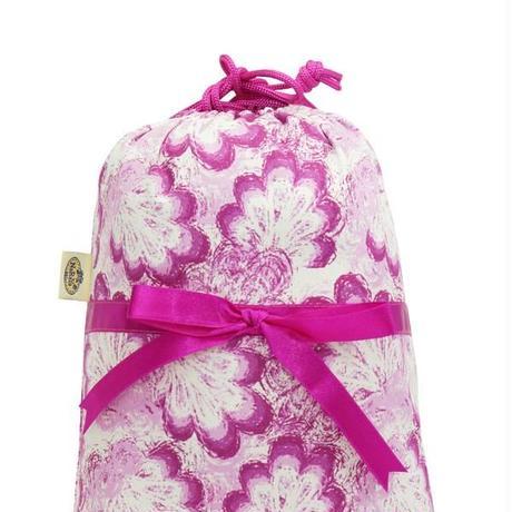 ナラヤ タイ NaRaYa 巾着袋 化粧ポーチ ランジェリーポーチ M ・フローラル   NB-258/2 送料無料
