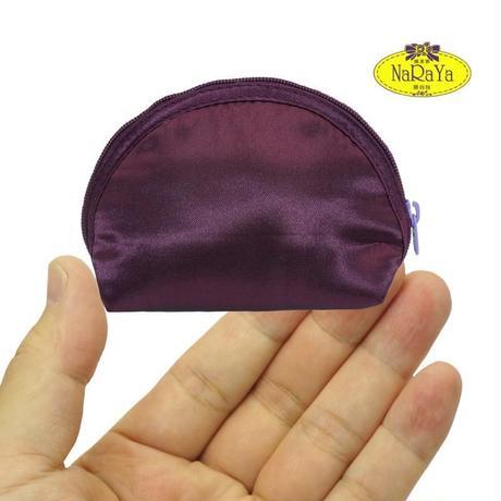 化粧ポーチ おしゃれで使いやすい ナラヤ NaRaYa 手のひらシェル型ケース・サテン(ボルドー) NBS-187