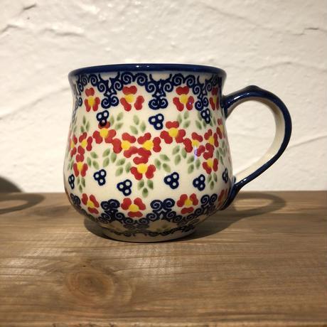 マヌファクトゥラ   花柄マグカップ