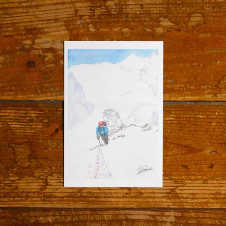 ユングフラウの頂へ(ポストカード)