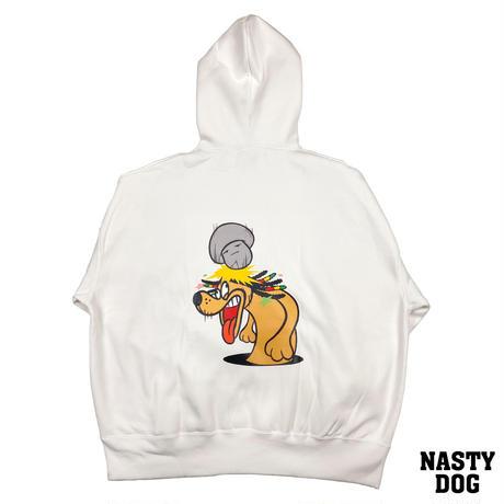 NastyDog/Character Hoodie2 White