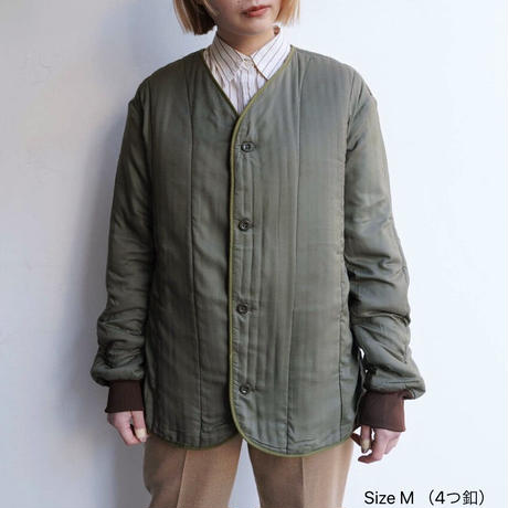 【Dead stock】 Czech military quilting liner coat