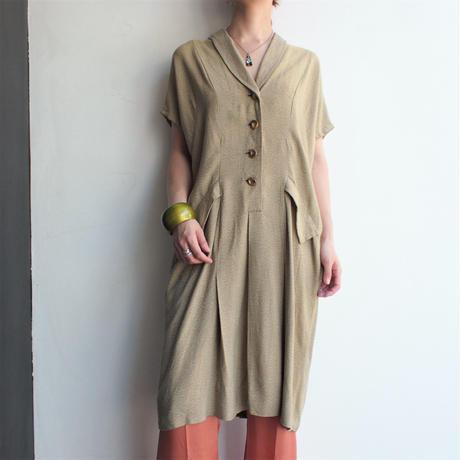 1950's Shawl collar dolman sleeve dress