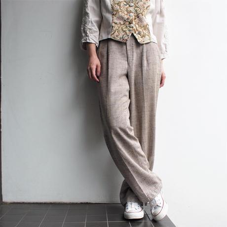 杢Straight slacks pants