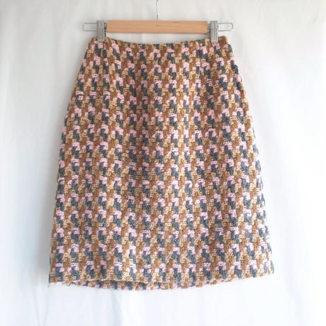 Colorful tweed Wool skirt
