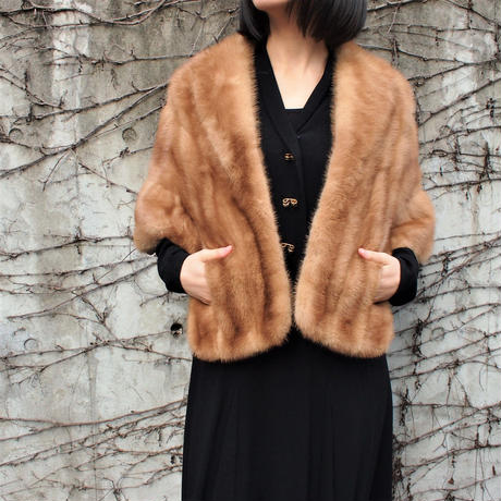 【EMBA】Made in USA Mink fur cape jacket